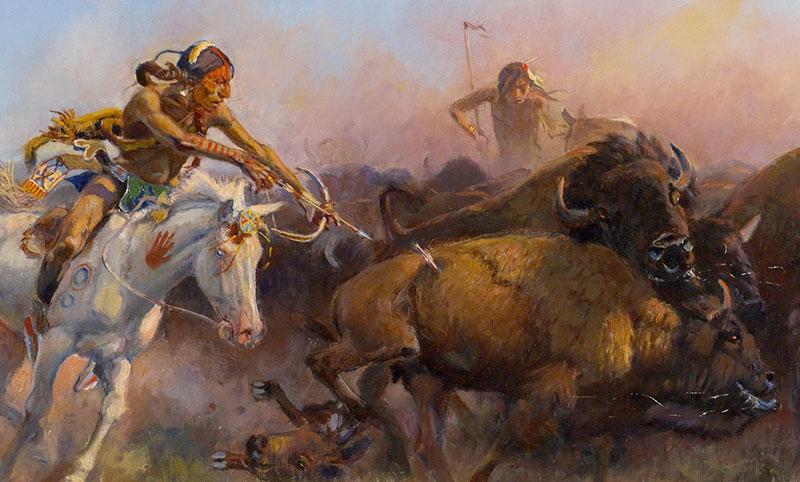 Apachen-Büffel