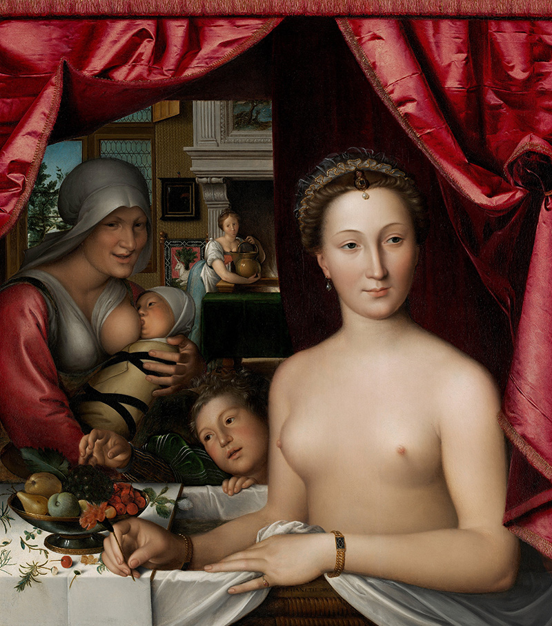 Frau Mutter nackt