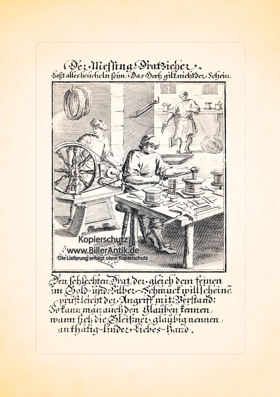 Der Messing Dratzieher Drahtzieher Draht Kupferstich Christoph ...