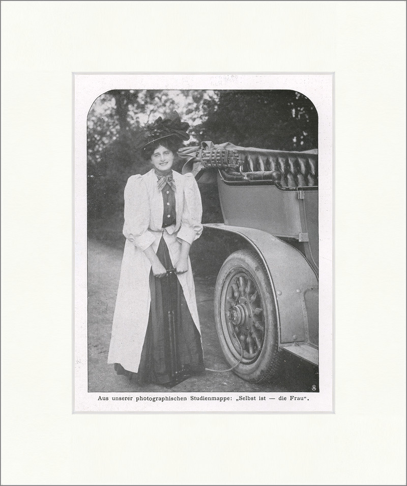 photographische studienmappe selbst ist die frau 1908 auto f original 00005 billerantik. Black Bedroom Furniture Sets. Home Design Ideas
