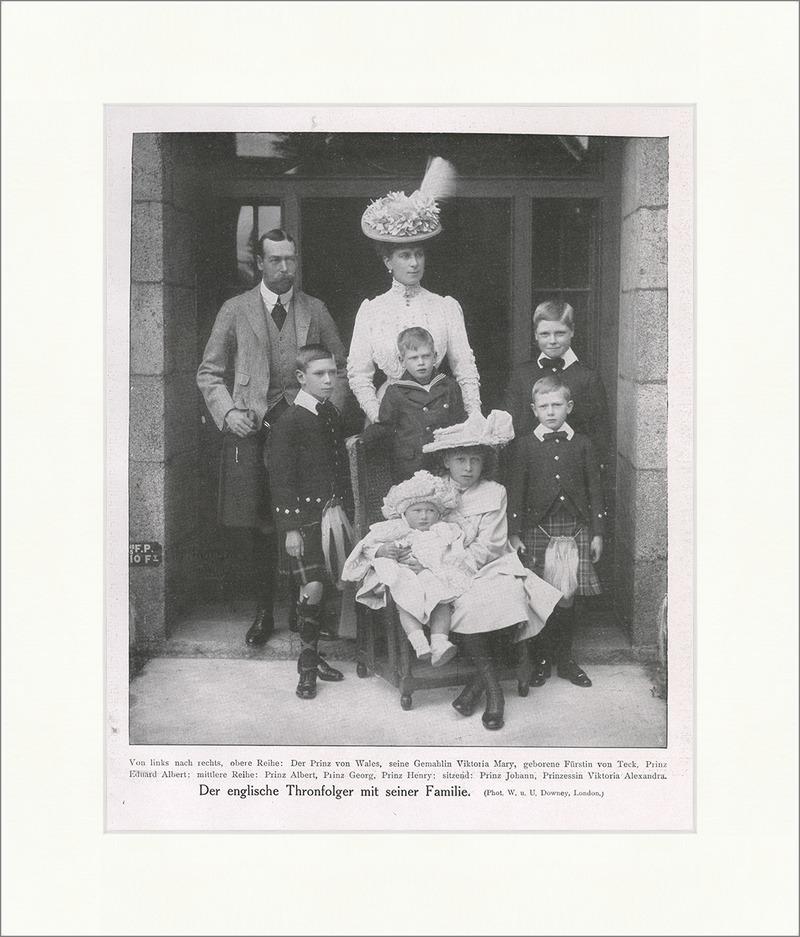 der englische thronfolger mit seiner familie 1908 adel prinz f original 00045 billerantik. Black Bedroom Furniture Sets. Home Design Ideas