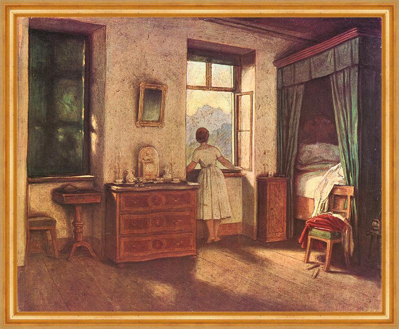 Morgenstunde moritz von schwind schlafzimmer stube berge for Leinwand schlafzimmer