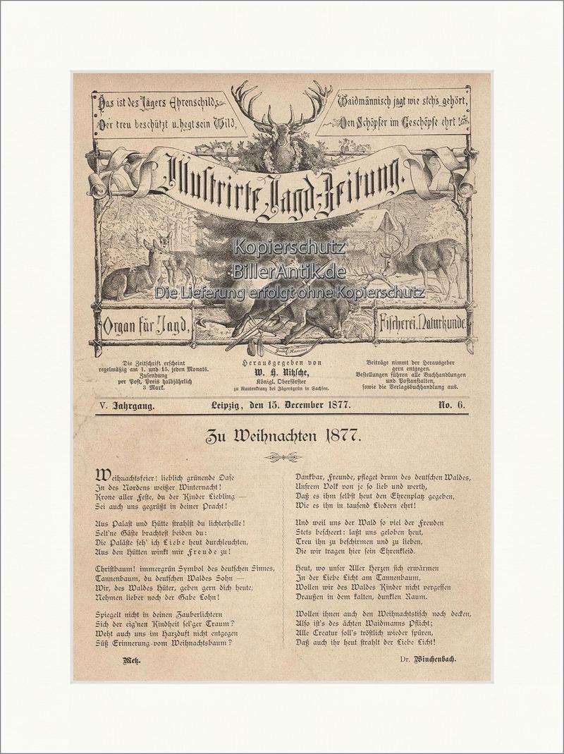 zu weihnachten 1877 gedicht titelseite waidmann holzstich. Black Bedroom Furniture Sets. Home Design Ideas