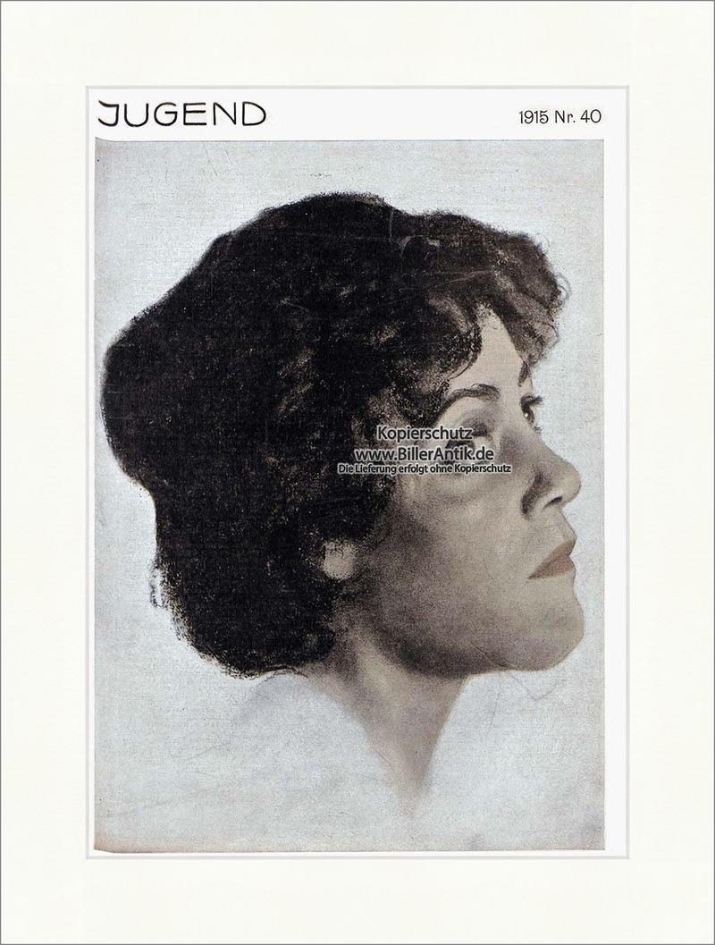 Titelseite-der-Nummer-40-von-1915-Eugen-Spiro-Portrait-Frau-Hirth-Jugend-4027
