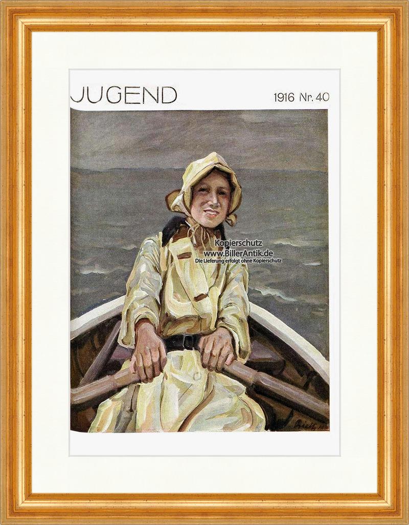 Titelseite-der-Nummer-40-von-1916-Paul-Rieth-Boot-Frau-Ruder-Hirth-Jugend-4079
