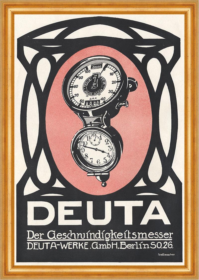 Deuta Werke GmbH Berlin Geschwindigkeitsmesser Plakat ...