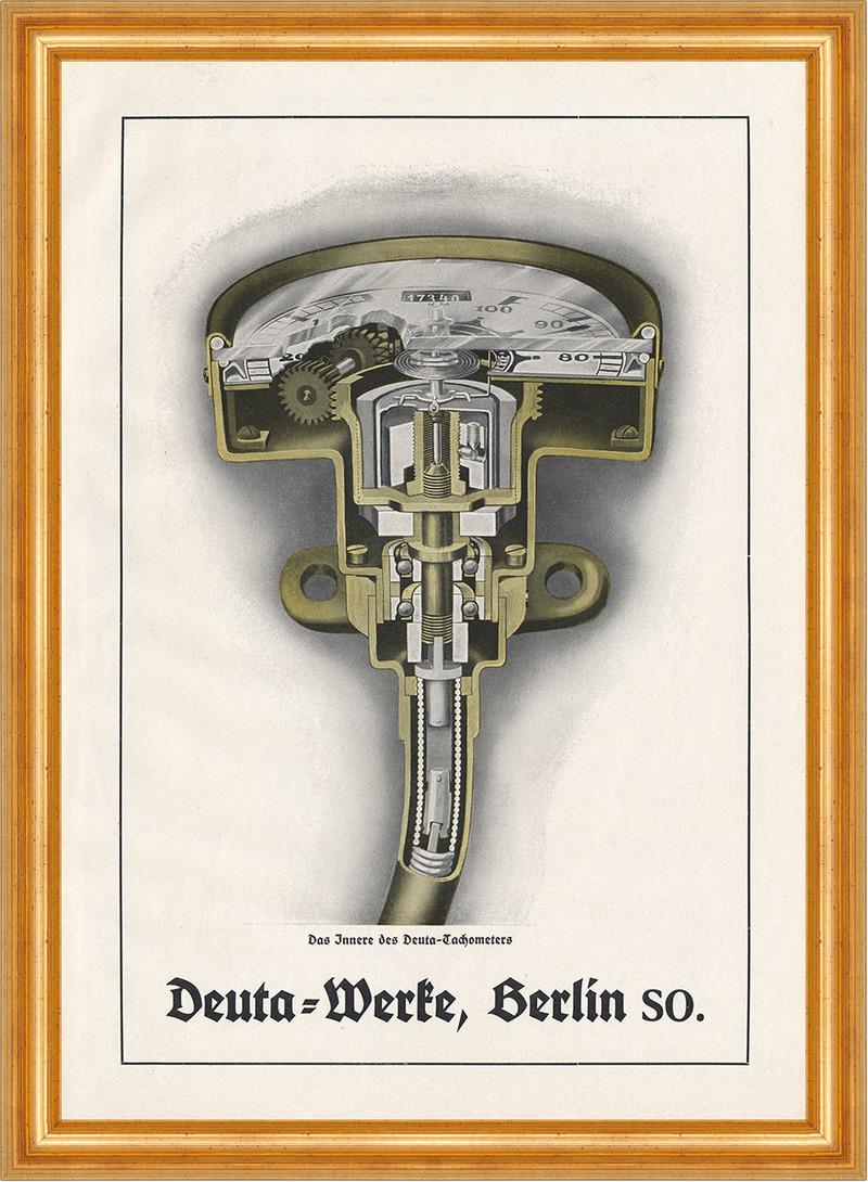 Deuta Werke Tachometer Konstruktion Technik Berlin Plakat ...