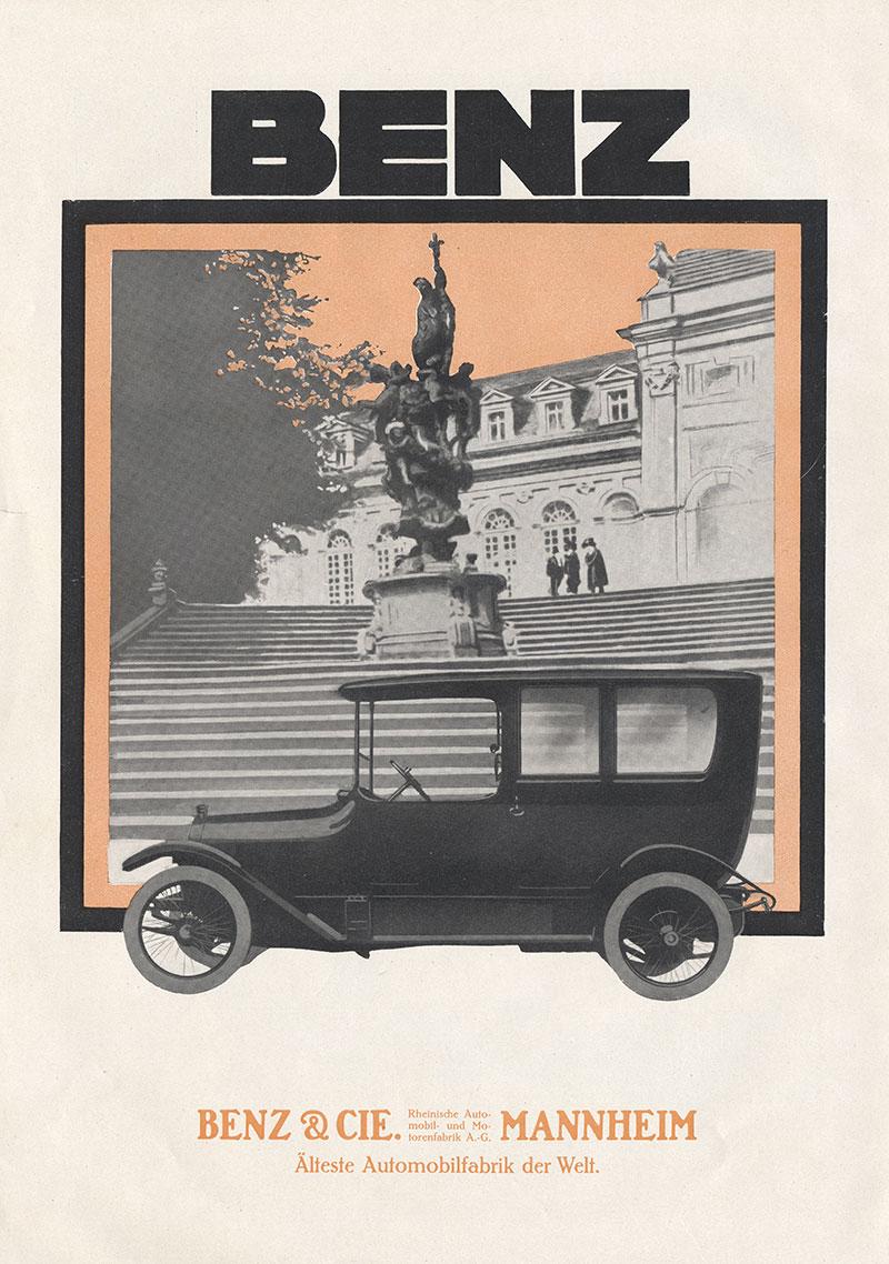Benz cie ag mannheim denkmal freitreppe plakat 502 motoring