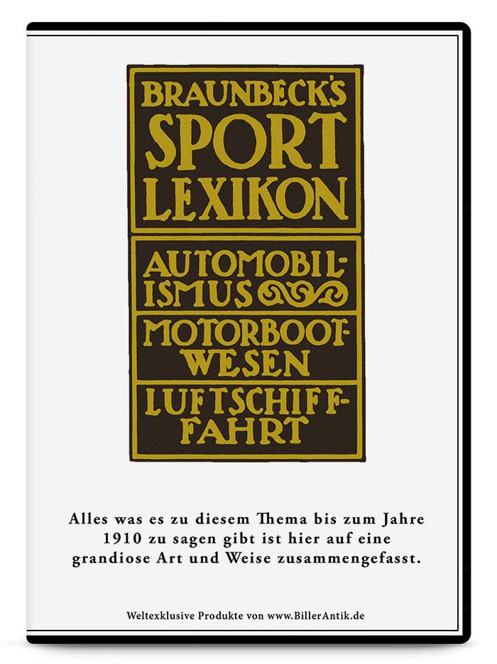 CD Set Braunbecks Sport Lexikon - 3 CDs zum Thema Automobile, Luftfahrt und Motorboote