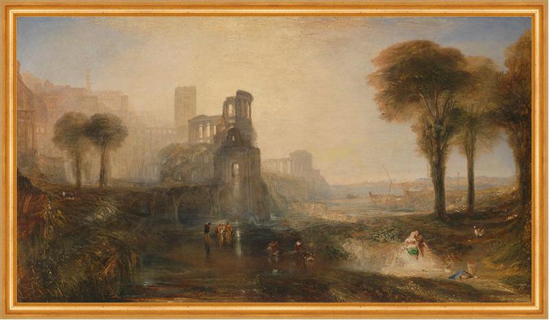 Caligulas Palace and Bridge William Turner Italien Ruinen Palast B A1 03537