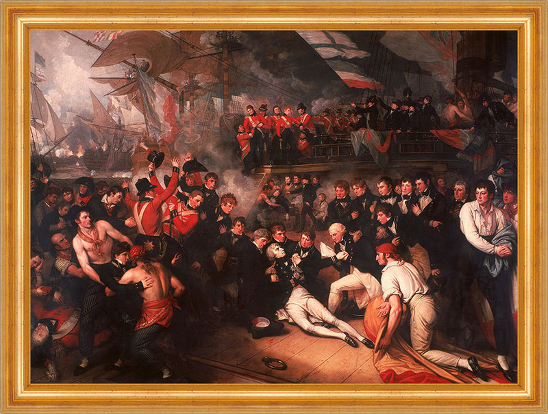 The Death of Nelson Benjamin West Tod Horatio brit. Admiral Schlacht ...