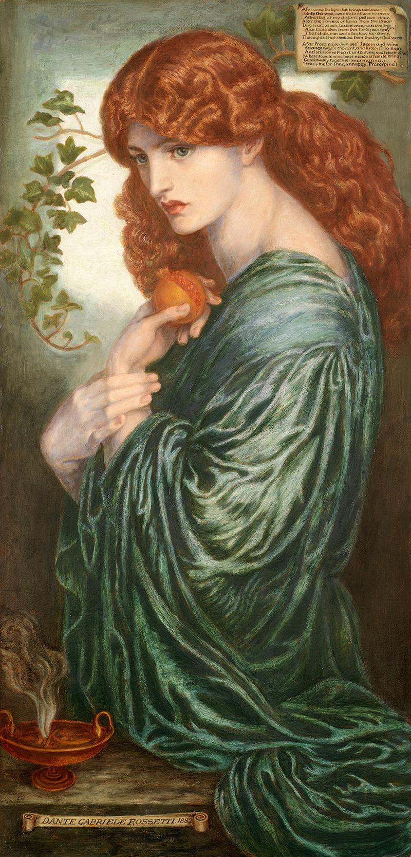 Proserpine Dante Gabriel Rossetti röm  Mythologie Göttin