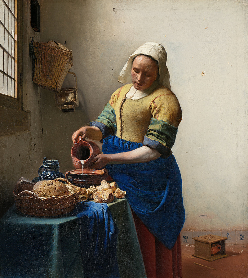 the milkmaid jan vermeer bauern milch krug schale magd brot essen b a3 02469 billerantik. Black Bedroom Furniture Sets. Home Design Ideas