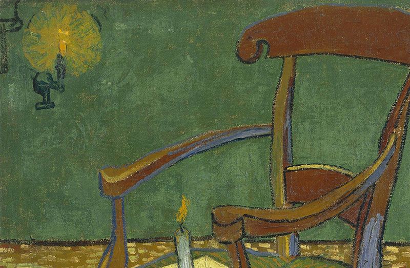 Gauguins Chair Vincent Van Gogh Arles Kerze Bücher Stuhl