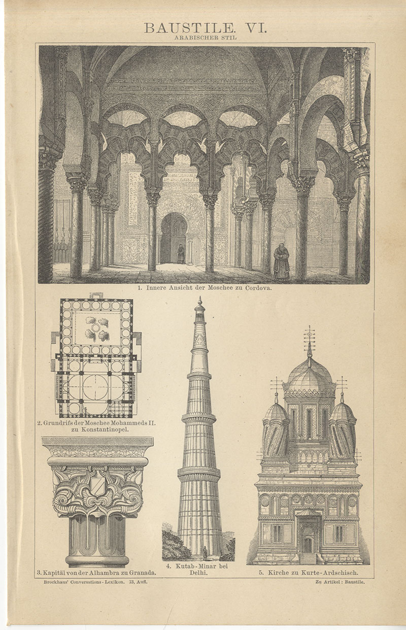 Baustile Indisch Assyrisch Persisch Rokoko Gotik ...
