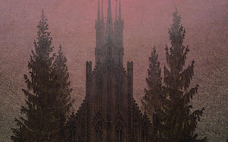 Croce E Cattedrale In Montagna Romanticismo Canoni Caspar David