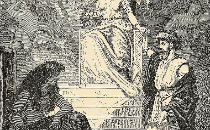 Heimdall verlangt die Rückkehr Idun aus der Unterwelt Göttin