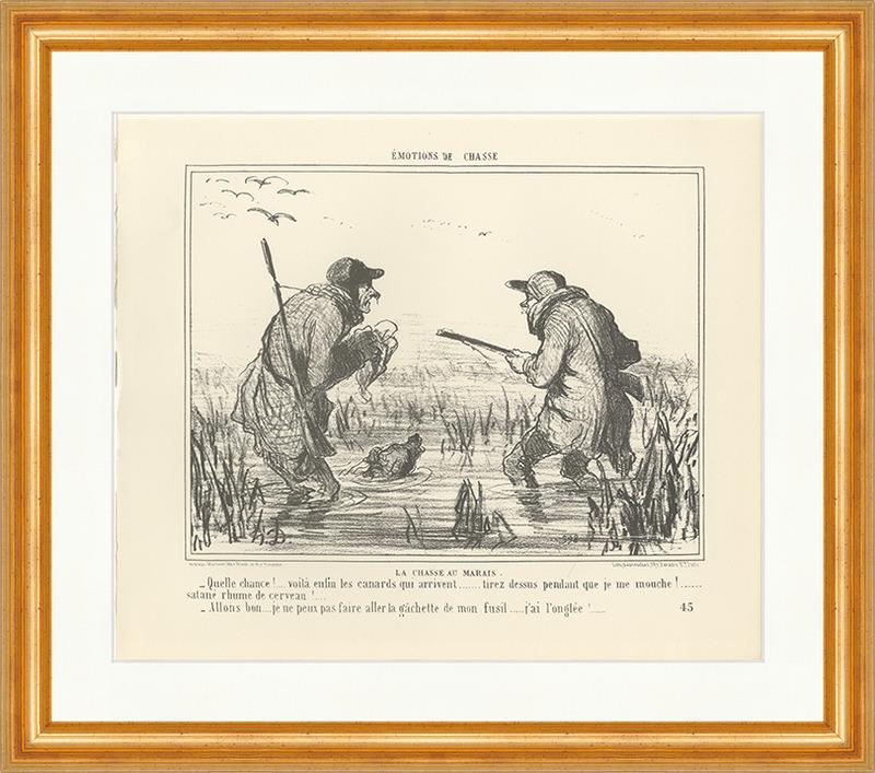 Schießen Sie endlich Sumpfjagd Wasser Ente Hund Nass Wild Daumier ...