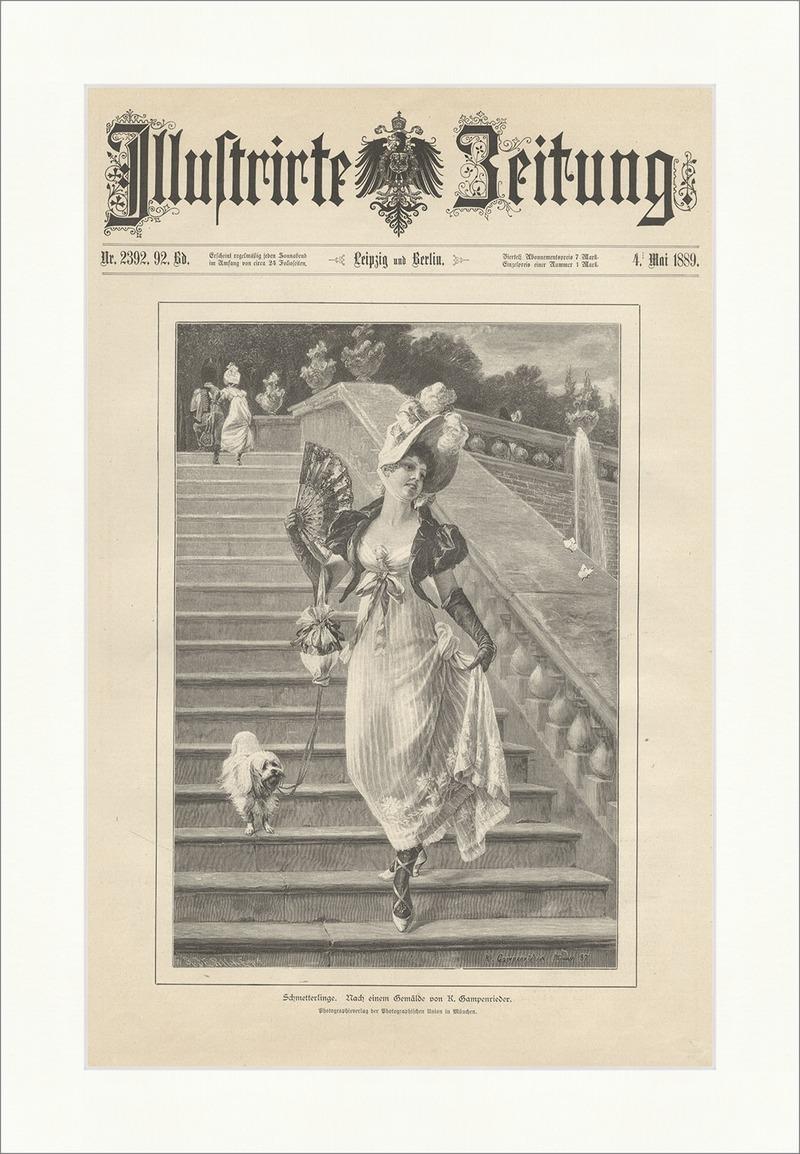 Schmetterlinge K. Gampenrieder Treppen Fächer Hund Sommerkleid ...