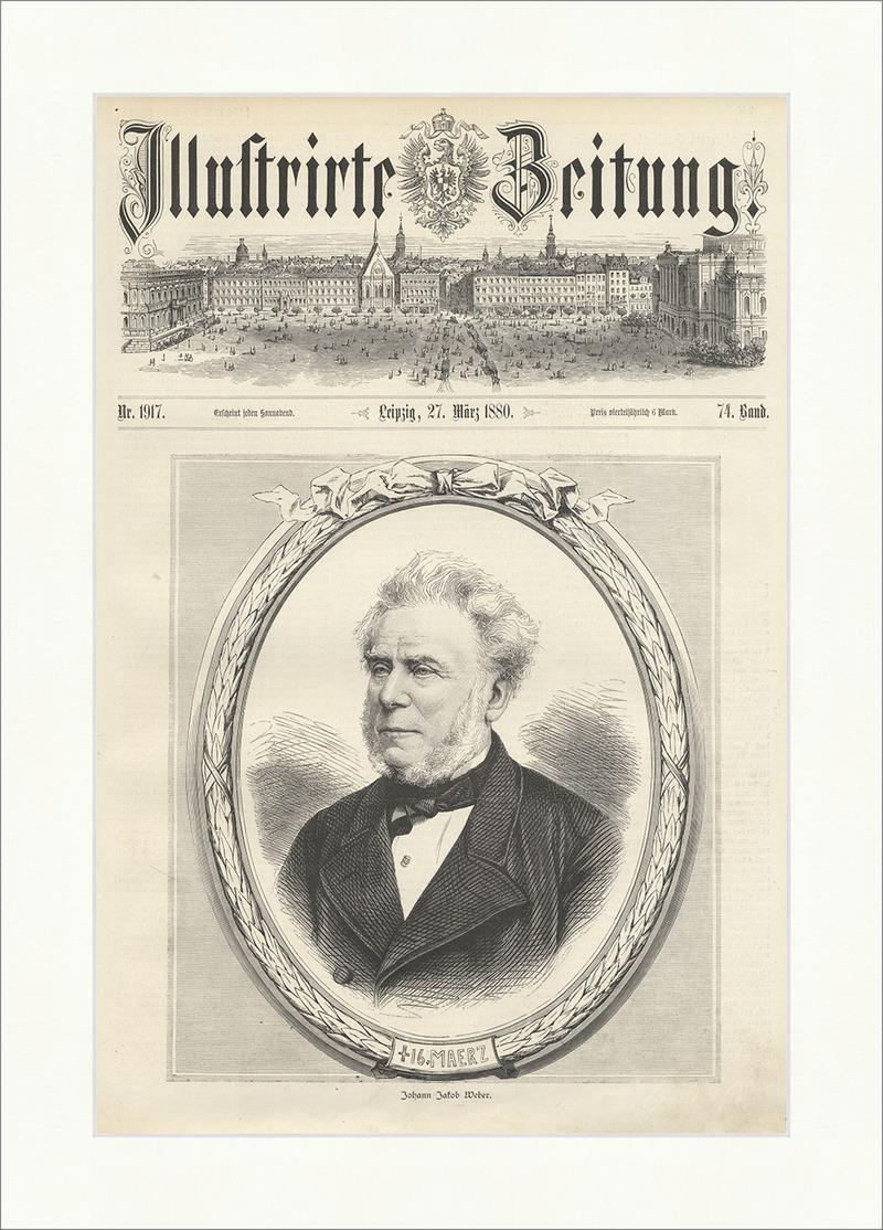 Johann Jakob Weber deutscher Buchhändler Verleger Basel Rahmen ...