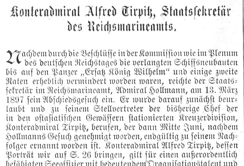 Konteradmiral Alfred von Tirpitz Freimaurer Marine Holzstich E 22438 Gerahmt