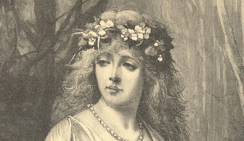 Ophelia Shakespeare: Ophelia Wiliam Shakespeare Hamlet Figurine Garden Ornament