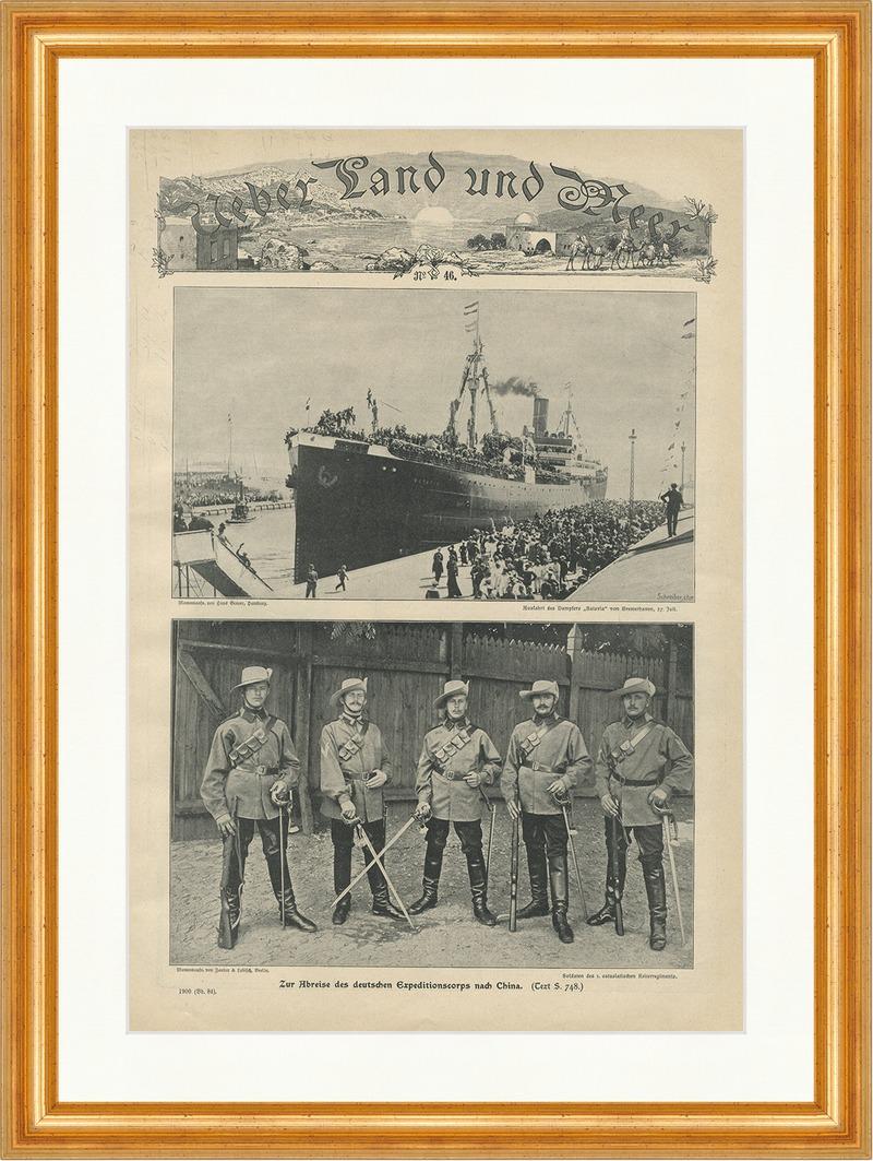 Abreise des deutschen Expeditionscorps nach China Batavia Marine ...
