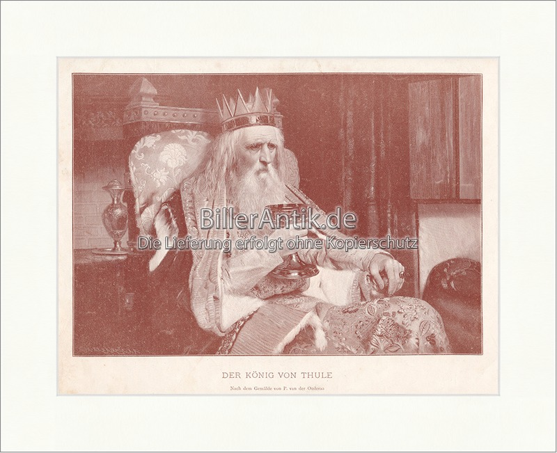 König Von Thule Goethe Gedicht Faust Abend Ballade Werk