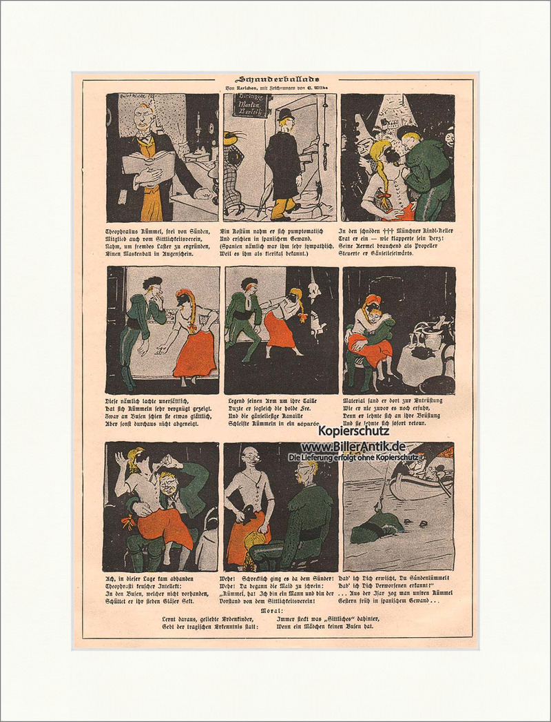 Der Zauberspiegel von 1897 Comic Jugendstil von A. Rummel München ...