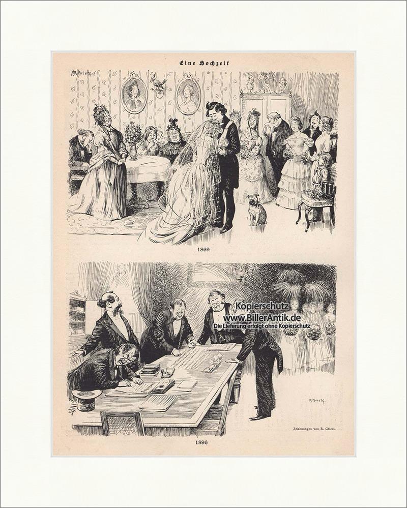 Eine Hochzeit Jugendstil von R. Griess Braut Bräutigam Brautkleid ...