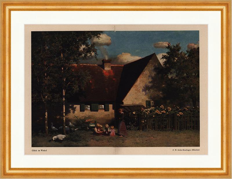b162 Original Blatt Aus Der Zeitschrift Jugend 1904 Keller-reutlingen