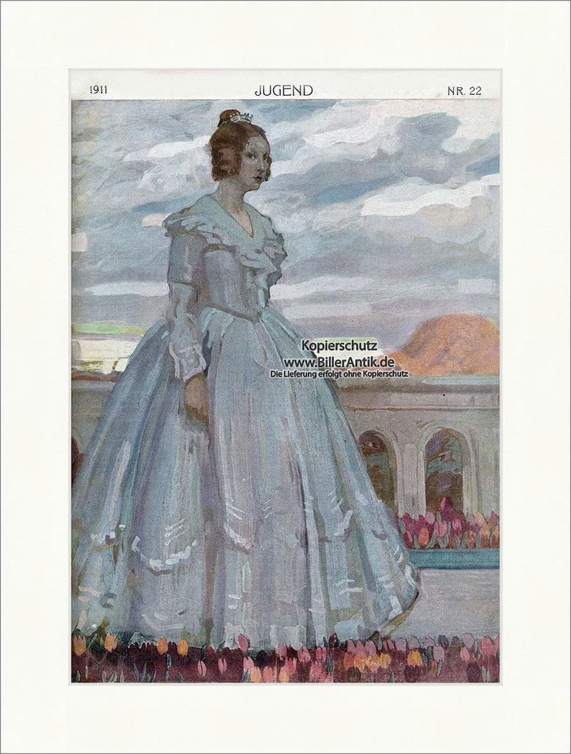 Titelseite der Nummer 22 von 1911 Hans Lesker Frau Krone Tulpen ...