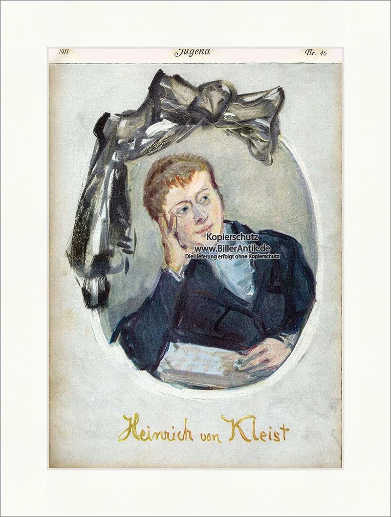 Titelseite der Nummer 46 von 1911 Max Slevogt Heinrich von Kleist ...