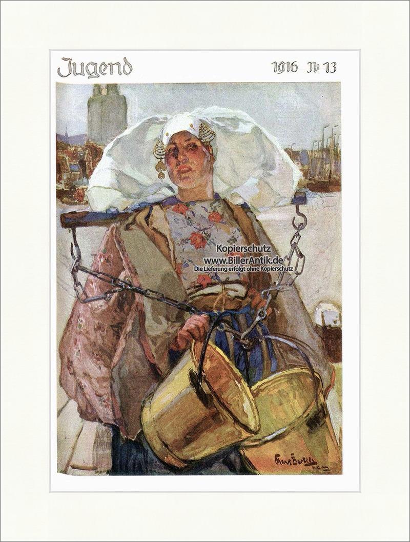 Titelseite der Nummer 13 von 1916 Hans von Bartels Milchmädchen Jugend 4052
