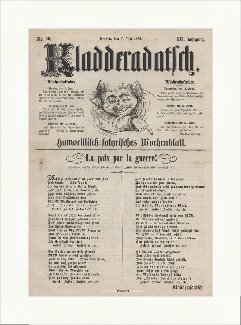 Titelseite Nr. 26 von 1868 Mein Lebenslauf ist Lieb und Luft ...