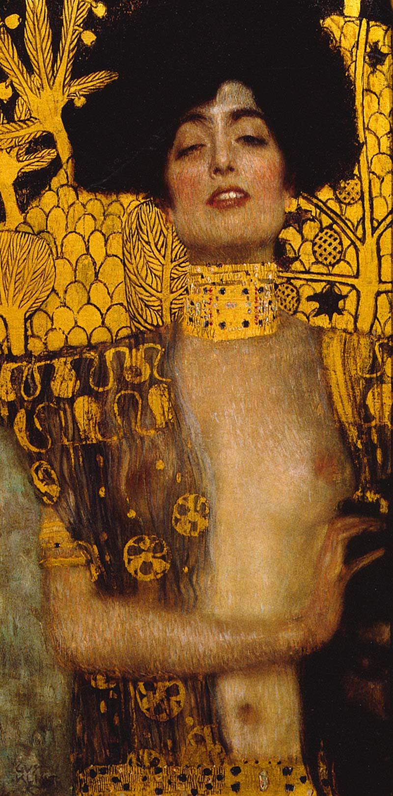 Judith I Detailausschnitt Holofernes Femme Fatale Bütten Gustav ...
