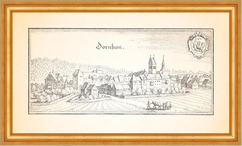 Nagolt Nagold Schwaben Schwarzwald Schloßberg Hohennagold Merian 0856 Gerahmt