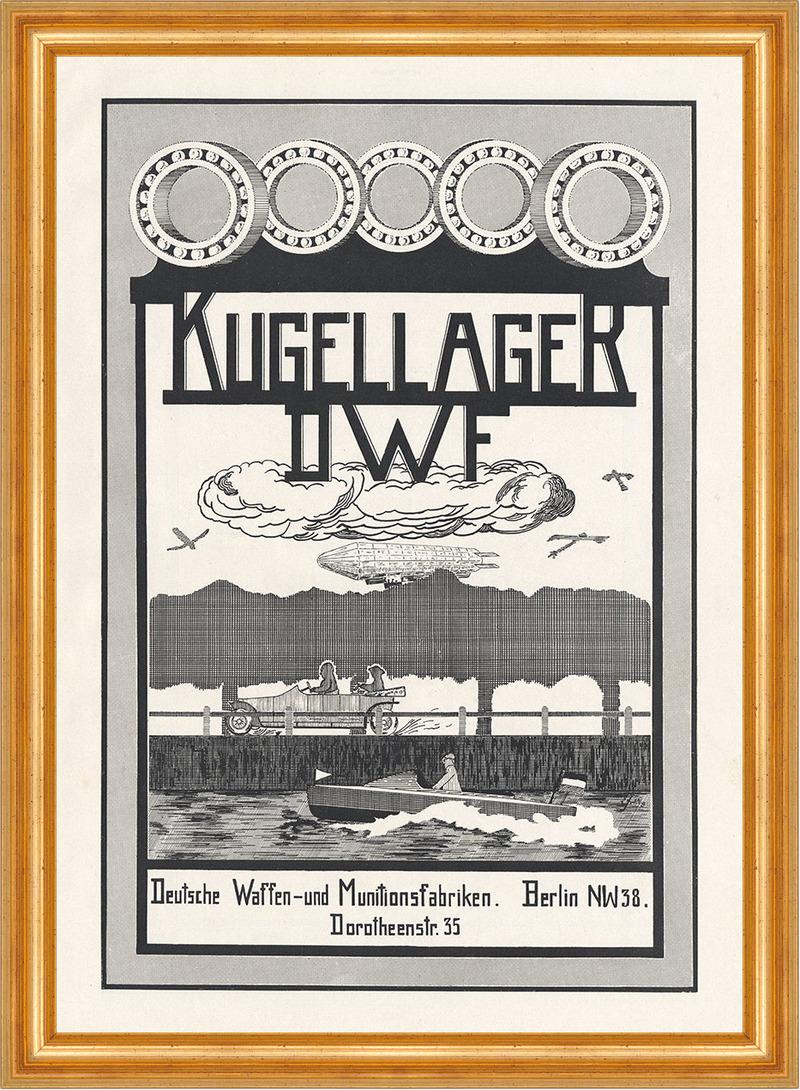 dwf kugellager zeppelin boot flugzeug berlin plakat braunbeck motor a3 483 billerantik. Black Bedroom Furniture Sets. Home Design Ideas