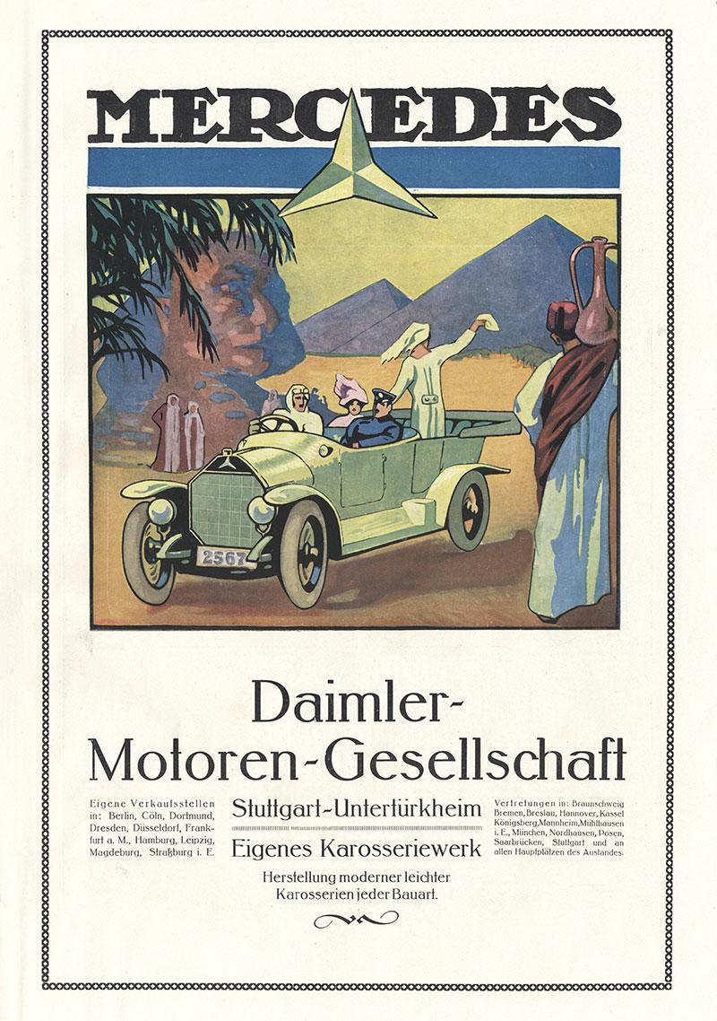 Mercedes Daimler Stuttgart Untertürkheim Coupe Plakat Braunbeck Faks/_Motor 284