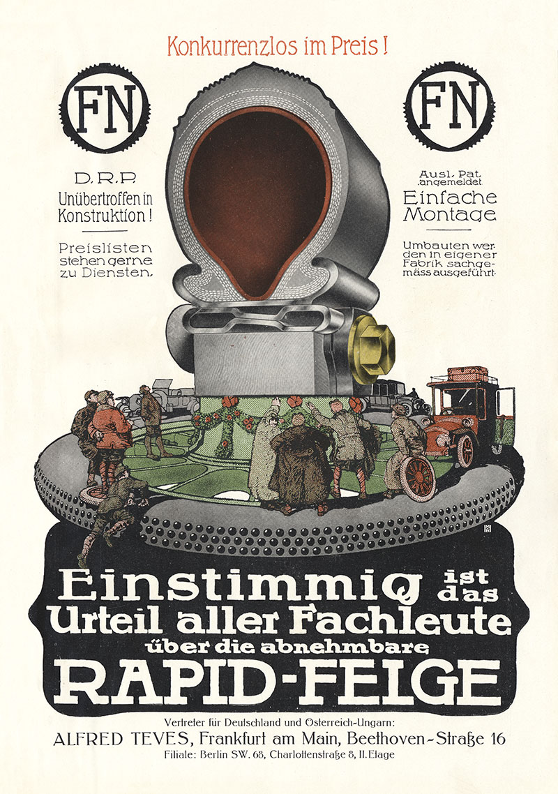 Alfred Teves Rapid Felge Frankfurt am Main Berlin Plakat Braunbeck ...