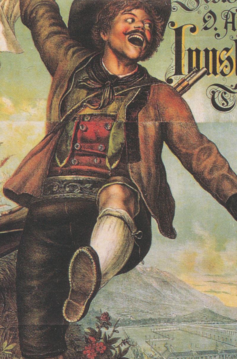 Zweites österreichisches Bundesschießen 1885 Innsbruck  Faks/_Plakatwelt 150
