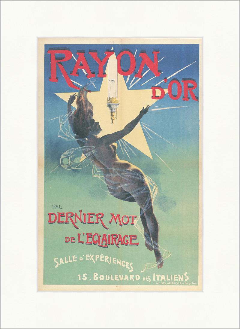 Rayon D Or Beleuchtung L Eclairage Werbung Plakat Kunstdruck ...