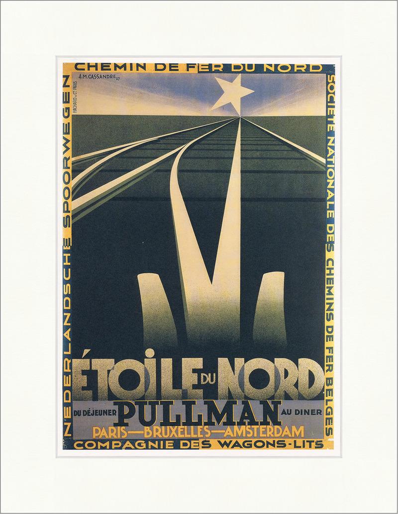 Etoile du Nord Cassandre Plakat Luxuszug Paris Brüssel Kunstdruck ...