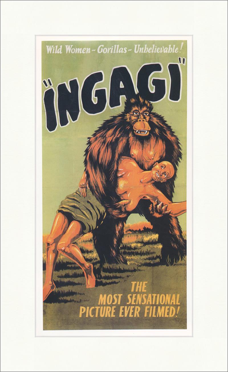 Ingagi Gorilla Film Gemora Nacktheit Abenteuerfilm Kunstdruck ...