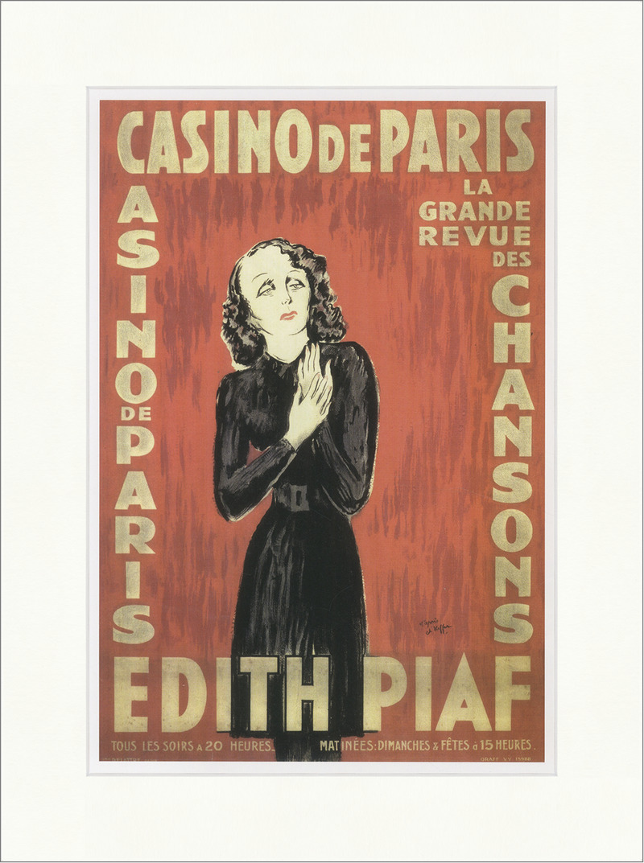 Edith Piaf Konzert im Casino de Paris 1943 Kauffer Faks/_Plakatwelt 821