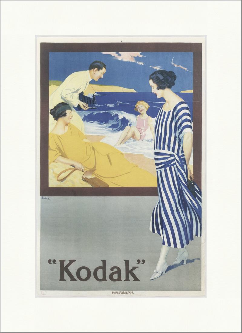 Kodak. Werbung Poster Kamera Foto Strand Meer Wellen Kunstdruck ...