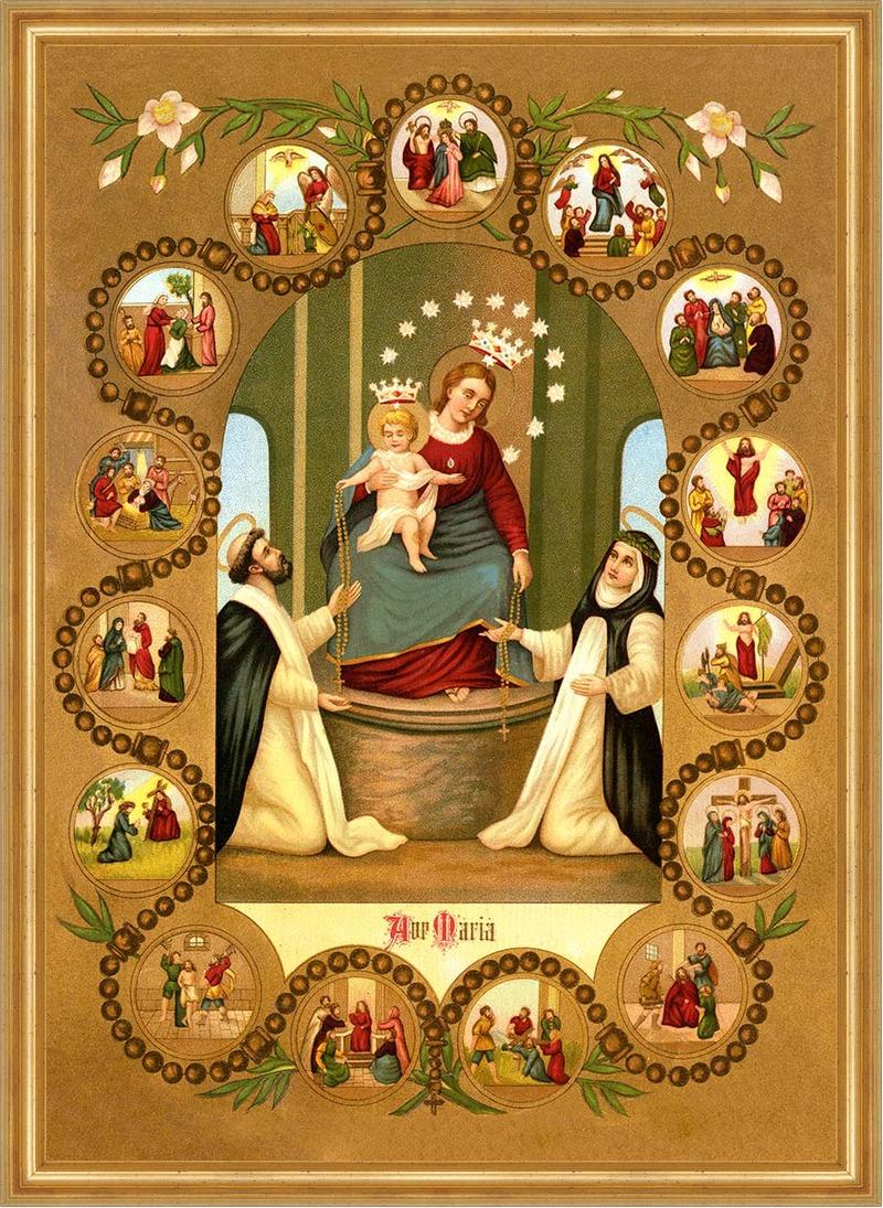Madonna vom Rosenkranz Maria Empfängnis Jesus Geburt hlg. St. LW ...
