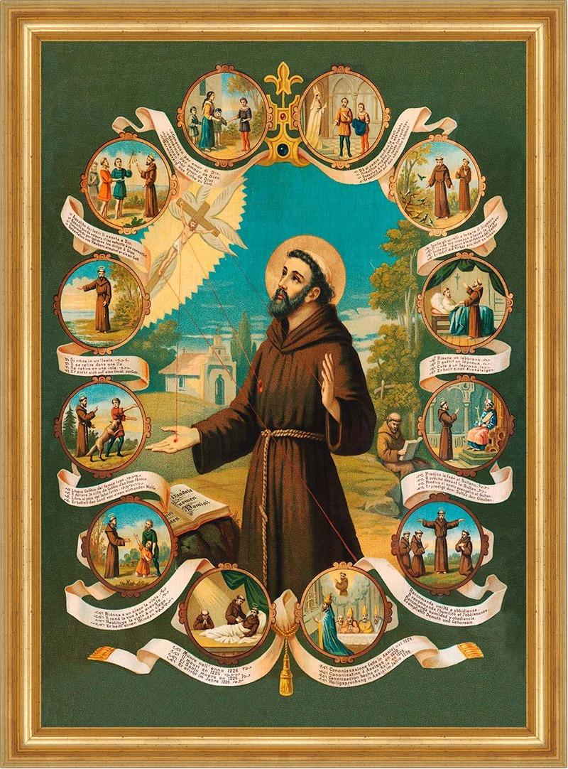 Heiliger Franz Von Assisi Franziskus Tierschützer Hlg St Bü Sankt