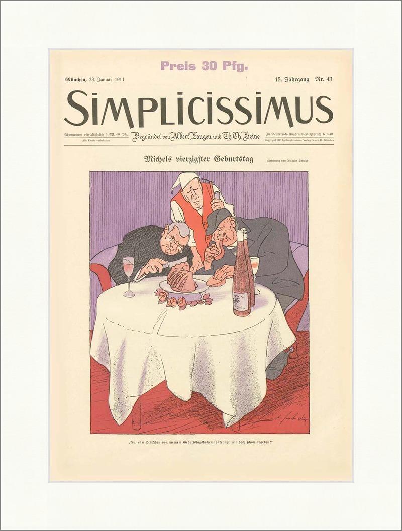 Titelseite der Nummer 43 von 1911 Wilhelm Schulz Geburtstag ...