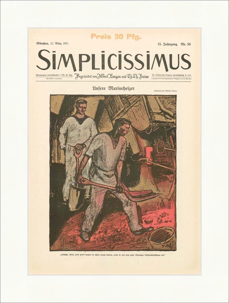 Titelseite der Nummer 50 von 1911 Wilhelm Schulz Marine ...
